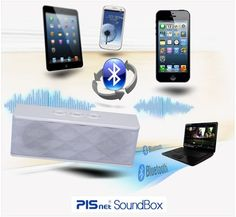 Pisnet soundbox mini Bluetooth3.0 wireless portable 2.1ch stereo outdoor speaker #PISnet