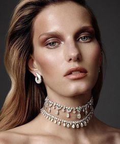 Jewelry editorial, beauty editorial, choker necklaces, diamond necklaces, s Diamond Choker Necklace, Diamond Bracelets, Diamond Jewelry, Choker Necklaces, Diamond Pendant, High Jewelry, Modern Jewelry, Jewellery, Jewelry Editorial