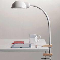 Seletti Softclamp Silicone Desk Lamp White with attachment  #seletti #beaumonde #softclamp