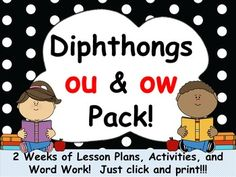 Diphthongs ou & ow Pack! 2 Weeks of Lesson... by Mrs Wenning's Classroom | Teachers Pay Teachers