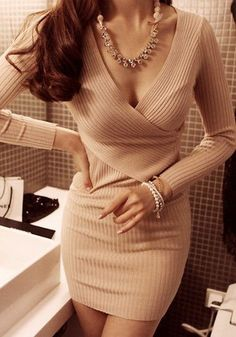http://www.cichic.com/catalog/product/view/id/50343/s/apricot-plain-v-neck-long-sleeve-knit-dress/