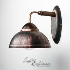 Cottage Wall light in brown copper lamp Living room Hallway antique | eBay