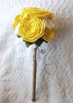 felt rose flower girl wand by handmade colectibles