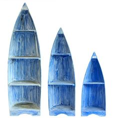 Boat Shaped Shelves Rrp £195 - For Delivery