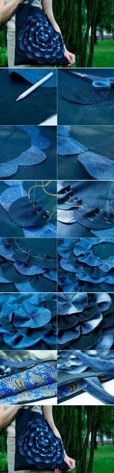 flor espiral jeans