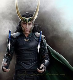"""Some people call me the space cowboy… Some call me the gangster of love… Some call me Maurice… But I am Loki… of Asguard."" Artwork - by Amatasera"
