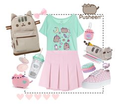 """""""#PVxPusheen"""" by adolie ❤ liked on Polyvore featuring Pusheen, INC International Concepts, contestentry and PVxPusheen"""