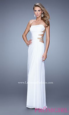 Strapless La Femme Prom Dress with Open Back 21197 at PromGirl.com