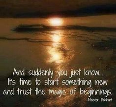 Here's to letting go & moving forward...
