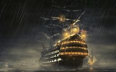 Desktop Wallpaper: Galleon illustration - Best of Wallpapers for Andriod and ios 1366x768 Wallpaper Hd, 1920x1200 Wallpaper, Hd Wallpaper, Images Pirates, Pirate Images, Rain Wallpapers, Hd Backgrounds, Iphone Wallpapers, 1366x768 Hd