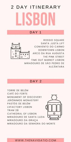 A strategically planned itinerary on how to make the most of your 2 days in Lisbon. Including a detailed itinerary, a map and travel tips. Portugal Vacation, Portugal Travel Guide, Europe Travel Guide, Travel Guides, Travel Destinations, Italy Vacation, Travel Advice, European Destination, European Travel
