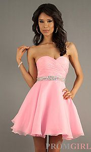 Strapless Party Dress (AL-3552) - promgirl.com