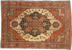 "Persian: Geometric 13' 0"" x 9' 0"" Serapi at Persian Gallery New York - Antique Decorative Carpets & Period Tapestries"