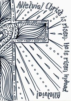 Flame: Creative Children's Ministry: Easter Day Reflective Colouring Sheet to…