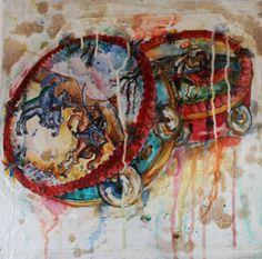 Sicilia, Musica e Folklore tecnica mista su tela 40x40 cm € 200,00