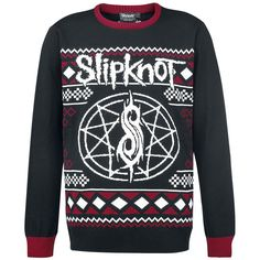"Slipknot Strikket genser ""Holiday Sweater"" rød-svart • EMP"
