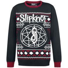 "Slipknot Strikket genser ""Holiday Sweater"" rød-svart • EMP"