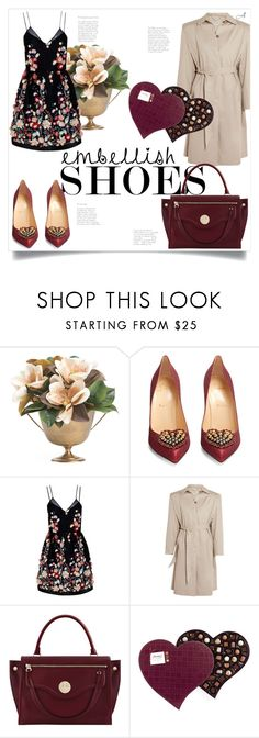 """Embellished (2)"" by andragabriela on Polyvore featuring Christian Louboutin, The 2nd Skin Co., Balenciaga and Hill & Friends"