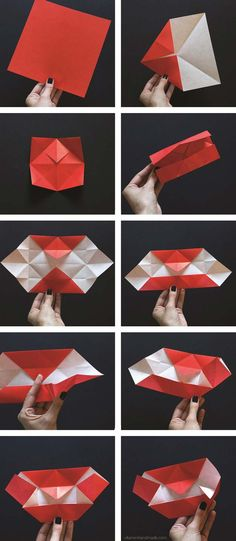 Best Origami Tutorials - Origami Vampire Fangs - Easy DIY Origami Tutorial Projects for With Instructions for Flowers, Dog, Gift Box, Star, Owl, Buttlerfly, Heart and Bookmark, Animals - Fun Paper Crafts for Teens, Kids and Adults http://diyprojectsforteens.com/best-origami-tutorials