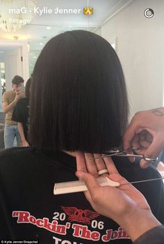 Snip: The reality star's stylist put the finishing touches on her new 'do