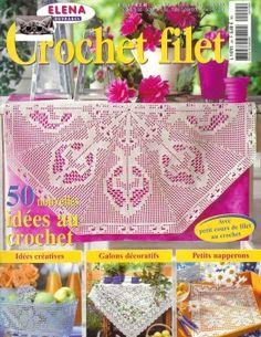 Crochet filet. Bello! Un'intera rivista di filet francese!