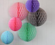 Honeycomb poms .. wedding decorations, party decorations