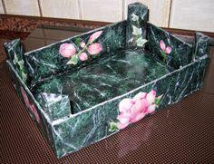 cassettina in legno finto marmo