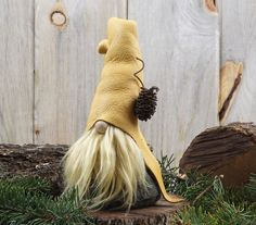 Nordic Woodland Gnome EDWYRD the Amused by RusticSpoonful on Etsy