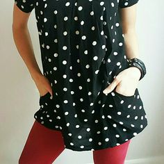 Anthropologie Holding Horses Tunic Super fun polka-dot tunic with pockets!! ?????? 100% Rayon Anthropologie Tops Tunics