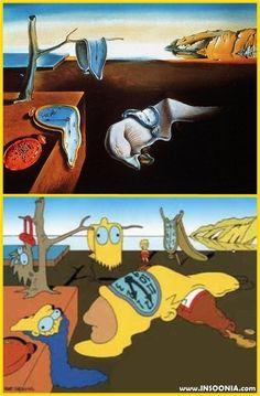 Dalí con Simpsons