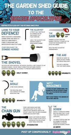 The garden shed guide to the #ZombieApocalypse  http://www.prep-shop.com/