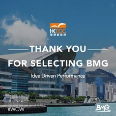 Thank you HKTDC for Selecting BMG as Partners! #WOW