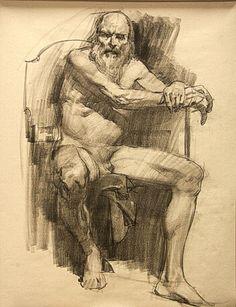 Male figure sketch art