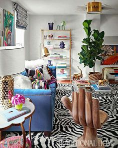 Living Room Decor, Bedroom Decor, Quirky Bedroom, Living Rooms, Bold Living Room, Eclectic Living Room, Living Spaces, Traditional Home Magazine, Colourful Living Room