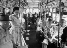 ley de segregación en un bus de Carolina del Sur, 1956. Life