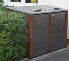"Mülltonnenbox / Mülltonnenverkleidung Model ""Pultdach"" #muelltonnenbox#muelltonnenverkleidung"