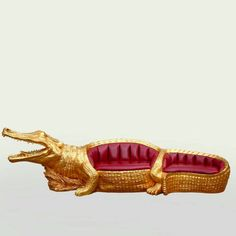 Golden crocodile couch