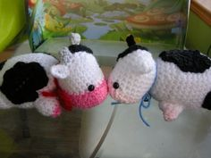 Free Little Cow crochet pattern - so cute :0)