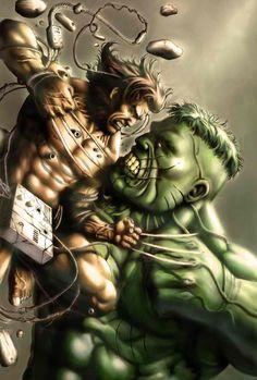 Wolverine vs. The Hulk by Benjo Camay