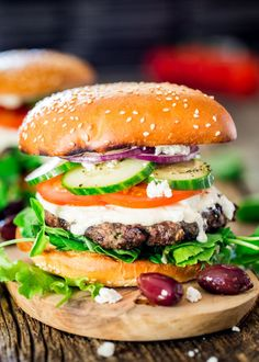 greek lamb burgersReally nice recipes. Every hour.Show me what  Mein Blog: Alles rund um Genuss & Geschmack  Kochen Backen Braten Vorspeisen Mains & Desserts!