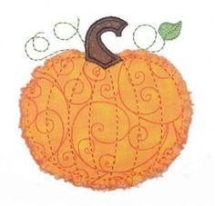 Applique Only :: Raggy Pumpkin Applique