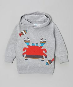 Take a look at this Gray & Red Crab Hoodie - Toddler & Kids by little bits on #zulily today!