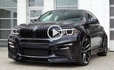 BMW Custom, the most beautiful SUV ever from BMW! In the video we can see the quality of BMW brand and of course the design that makes you not look up from it. The black color Bmw X6 Black, Bmw Wallpapers, Bmw X4, Mercedez Benz, Bmw Classic Cars, Bmw 7 Series, 2017 Bmw, Bmw Love, Car Tuning