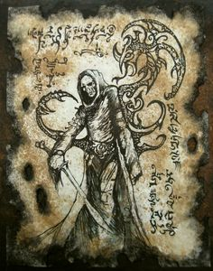 Skull Faced Sorcerer by MrZarono.deviantart.com on @DeviantArt