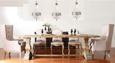 """Durham Reclaimed Wood Trestle Dining Table 87"""""""