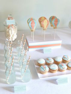 Hot Air Balloon Inspired Dessert Table parties for Kids