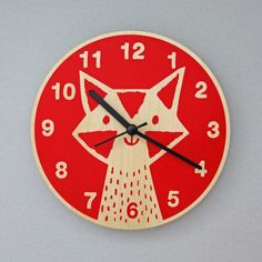 Young or old, this furry fella should keep you good company while keeping good time.Hand-printed on laser-cut plywood, his whiskers turn on a ticking quartz movement that's powered by one AA battery (not supplied).Diameter 20cm