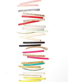 colorful bobbi pins, can't get enough of these!