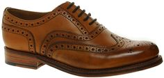 $380, Tan Leather Brogues: Grenson Stanley Brogues Brown. Sold by Asos. Click for more info: https://lookastic.com/men/shop_items/22580/redirect