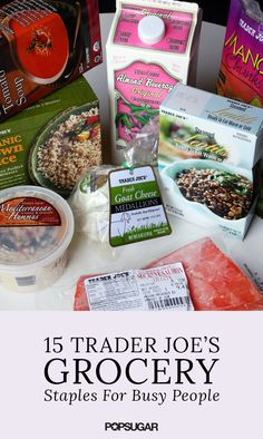 When you're on the go, quick and easy meals are essential. Trader Joe's has mastered the art of delicious yet inexpensive groceries, and they know what shoppers want to stock up on. From microwavable brown rice to organic vegetarian chili, our editors have shared their favorite items from Trader Joe's that will inspire your next market run.